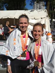Ricigliano and Lindsey at Ing Hartford Marathon 2012